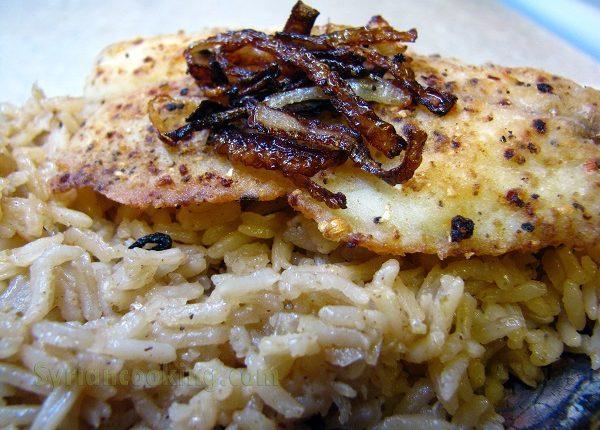 سمك فيليه مع ارز بسمتي