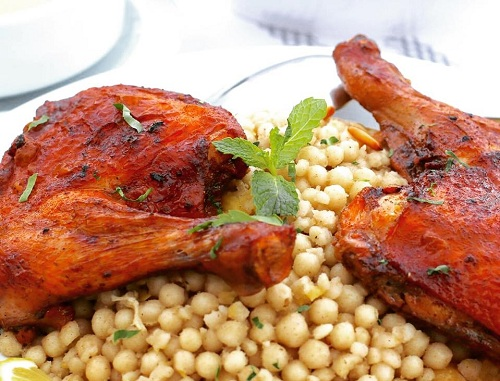 المفتول الفلسطيني مع الدجاج