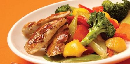 الدجاج الصيني بالخضراوات