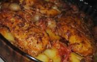 طريقة عمل دجاج البطاطس المحمرة