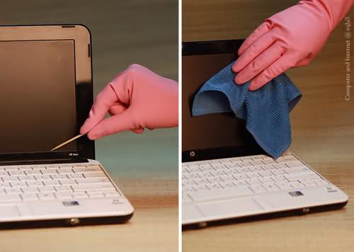 تنظيف شاشة الكمبيوتر