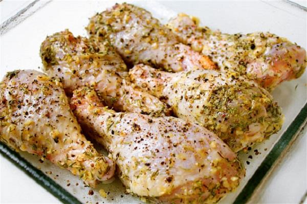 الدجاج المشوي بالزعتر