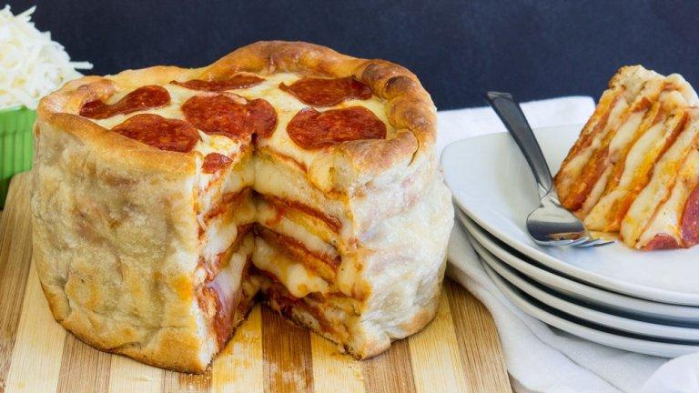 طريقة عمل كيك طبقات البيتزا