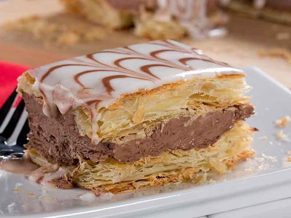 كيك نابليون بالشوكولا