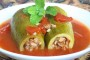طريقة عمل كوسا محشي بصلصة البندورة