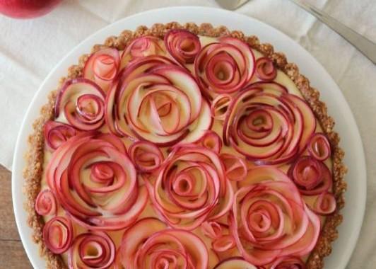 طريقة عمل وردات تارت التفاح