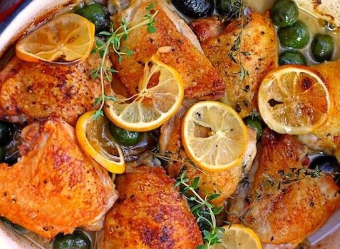 طاجن الدجاج بالزيتون