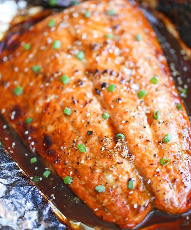 سمك السلمون على الطريقة الاسيوية