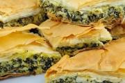 طريقة عمل رقائق بالسبانخ والجبنة