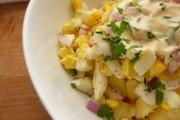 طريقة عمل سلطة البطاطس والبيض