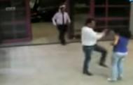بالفيديو : صفع فتاة على وجهها في المول