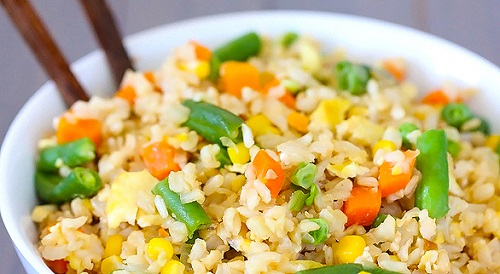 طريقة عمل الأرز بالخضار