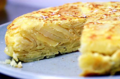 خبز التورتيلا مع البطاطا