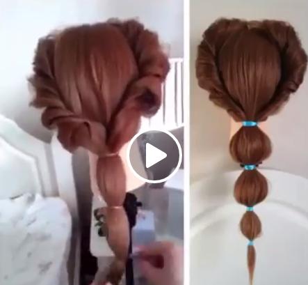 بالفيديو: اسرع واسهل تسريحة شعر في دقيقتين فقط