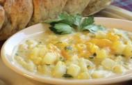 شوربة البطاطس والذرة الشهية