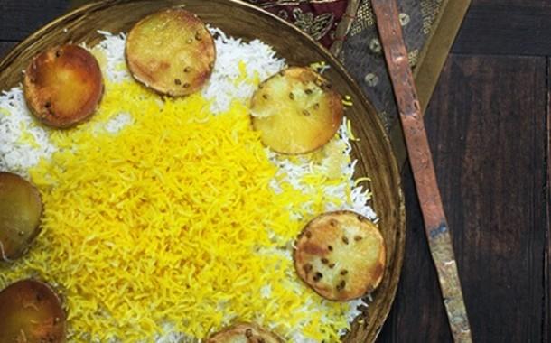 ارز بالبطاطس المقلي على الطريقة الهندية