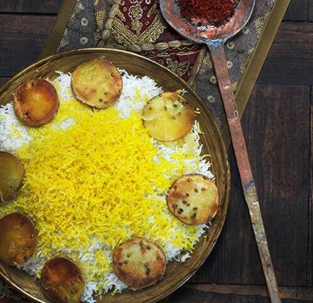 ارز بالبطاطس المقلي
