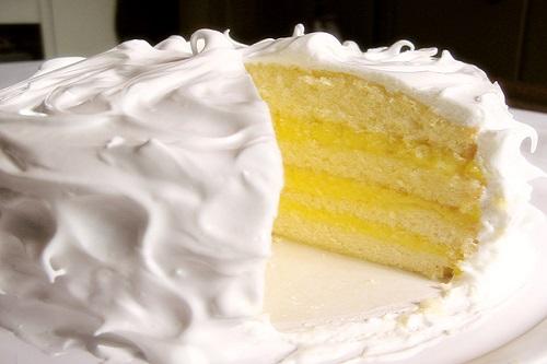 كيكة الليمون بجوز الهند وجبنة الماسكربون