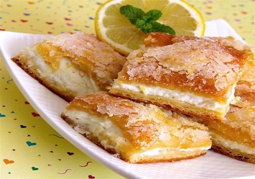 حلى الليمون بالجبنة الكريمية