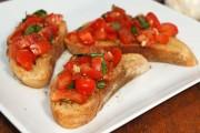 بروسكيتا الايطالية بالطماطم