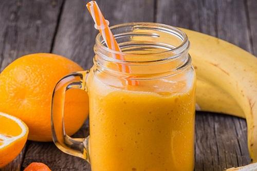 سموثي البرتقال والموز