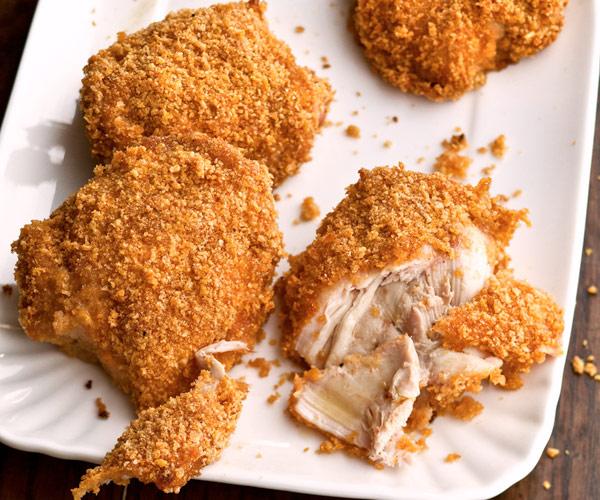 صدور الدجاج المقرمشة