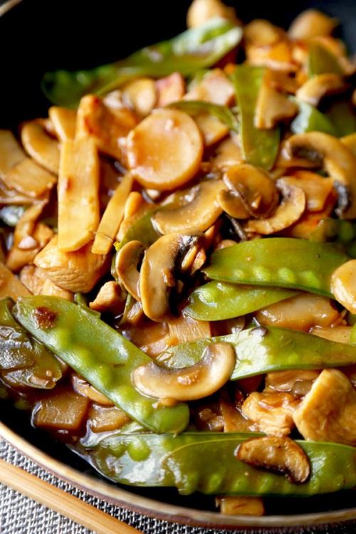الدجاج الصيني بالخضار لذيذ بالصور