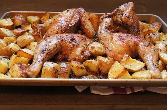 صينية الدجاج بالبطاطس على الطريقة اللبنانية
