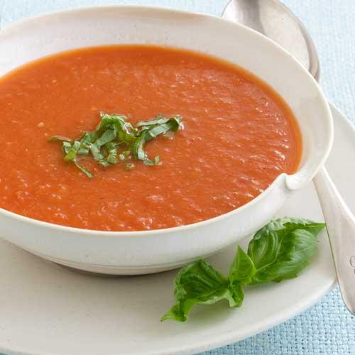 طريقة عمل شوربة الطماطم الباردة