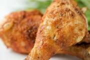 افخاذ الدجاج المقرمشة بالفرن