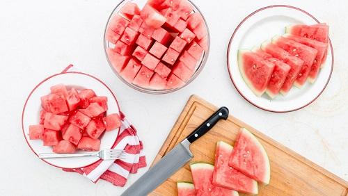 طريقة تقطيع البطيخ