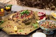 وصفة مقلوبة الباذنجان باللحم الطري