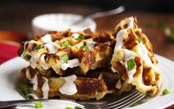 طريقة وافل البطاطس وصفة سهلة للفطور