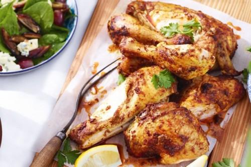 دجاج مشوي بالكركم
