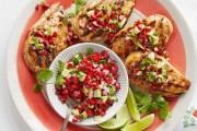 دجاج مشوي بصلصة الافوكادو والكرز