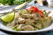 طبق الدجاج الحار بالكريمة والفطر
