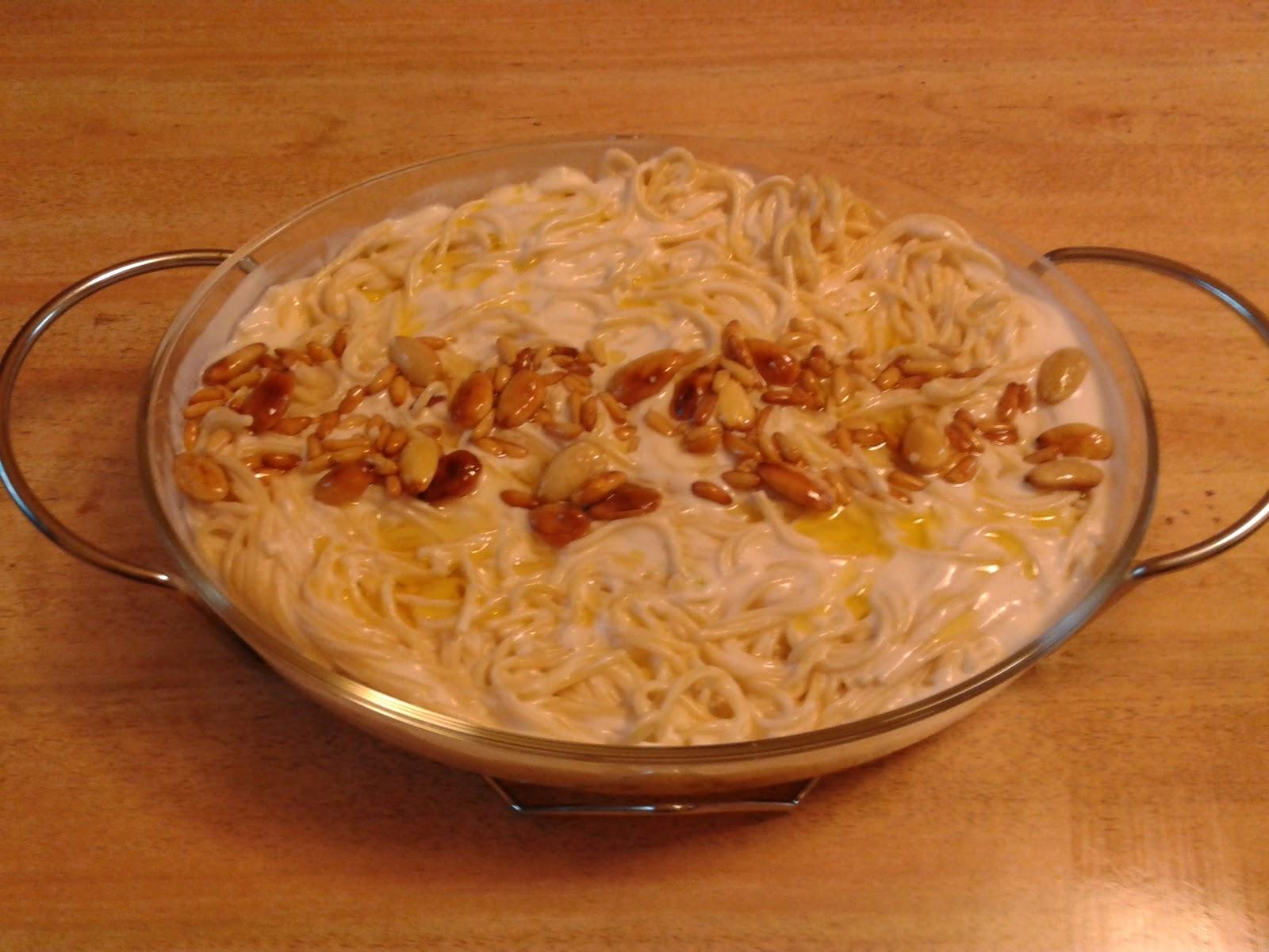 سباغيتي بالزبادي واللحم وصفة مكرونة سهلة وشهية للسيدات العاملات