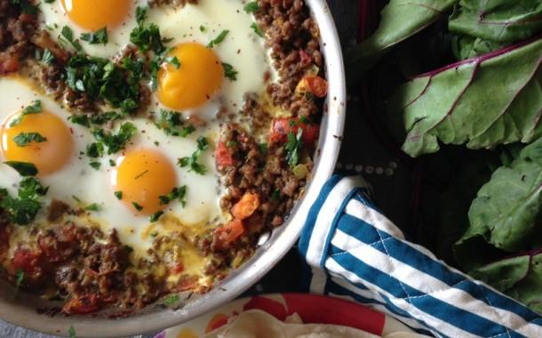 مخلمة بيض ولحم عراقية طريقة التحضير