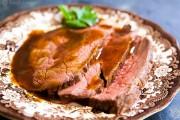 ما هي درجة حرارة تسوية اللحم البقري الصحية