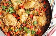 طريقة عمل أرز مكسيكي بالخضار و الدجاج