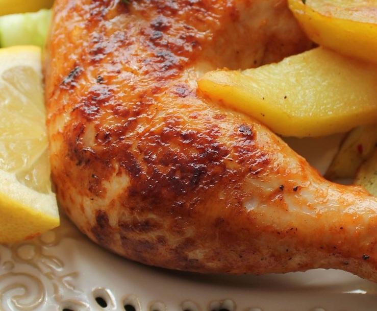 دجاج بالليمون والثوم