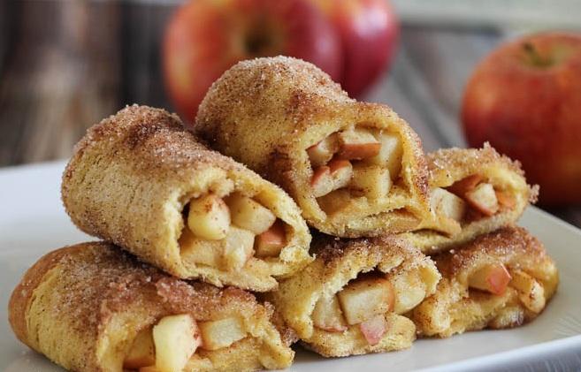 طريقة عمل فرنش توست بالتفاح و القرفة