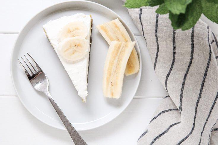 فطيرة كريمة الموز