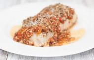 صينية فيليه سمك بصلصة الطماطم بالفرن