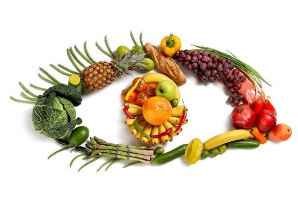 فوائد الخضار و الفواكه للعين
