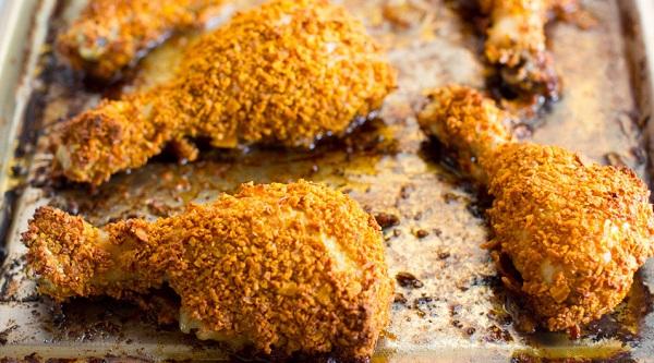 دجاج مقرمش بالفرن اطيب من المطاعم العالمية