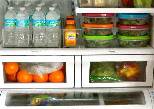 ترتيب الاغراض في الثلاجة