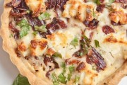 طريقة عمل تارت البصل والجبنة