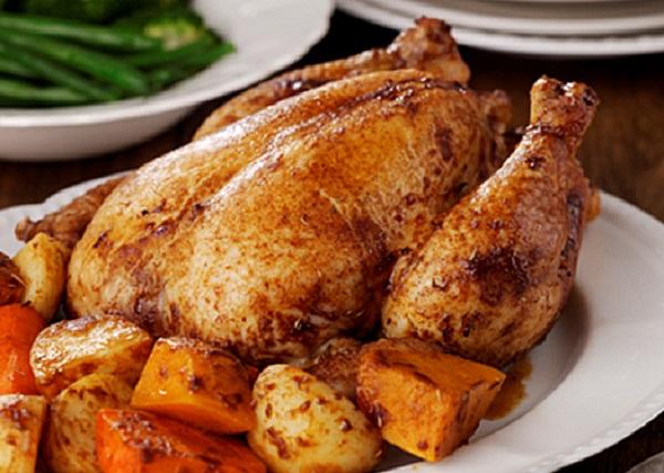 دجاج مشوي بالفرن مثل المطاعم