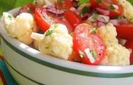 طريقة عمل سلطة القرنبيط والطماطم للرجيم